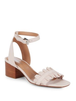 Monroe Suede Ankle-Strap Sandals Michael Kors Collection