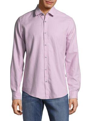 Nemos Cotton Casual Button-Down Shirt HUGO BOSS