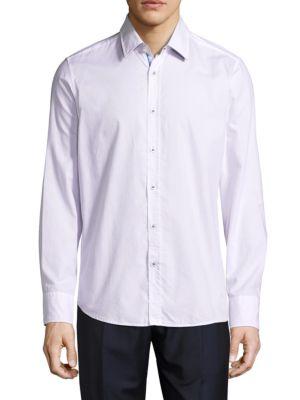 Lucas Cotton Casual Button-Down Shirt HUGO BOSS
