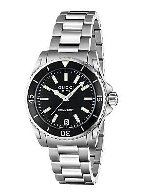 Dive Stainless Steel Bracelet Watch/Black