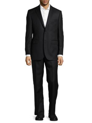 Twill Tailored Wool Suit Saks Fifth Avenue