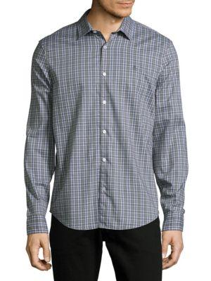 Check Cotton Casual Button-Down Shirt Original Penguin