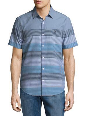 Stripe Cotton Casual Button-Down Shirt Original Penguin