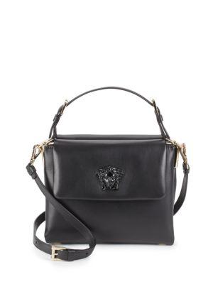 Mini Leather Top Handle Bag Versace