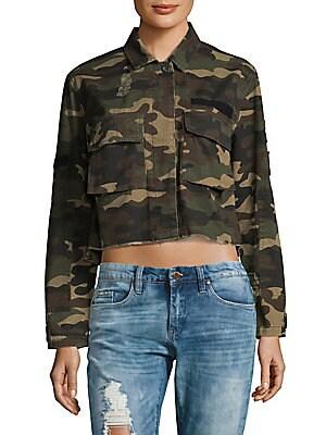 2-Pocket Camo Cotton Short Jacket