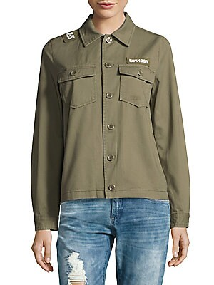 2-Pocket Button Front Cotton Jacket