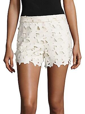 Amaris Faux Leather & Lace Shorts
