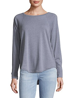 Long Raglan Batwing Sleeve Top