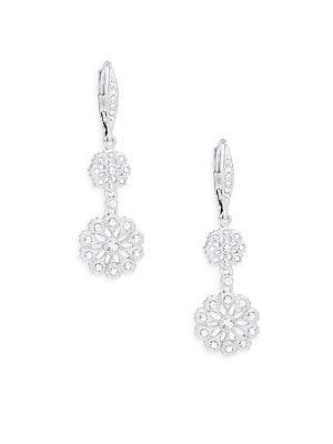 Sterling Silver Medallion Drop Earrings