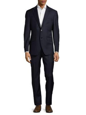 Modern Fit Tonal Striped Wool Suit Saks Fifth Avenue