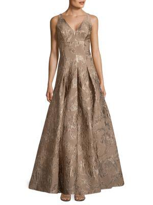 Sleeveless Long Dress Aidan Mattox