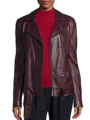 Tralsmin Leather Moto Jacket