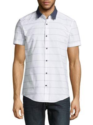 Stripe Cotton Casual Button-Down Shirt Antony Morato