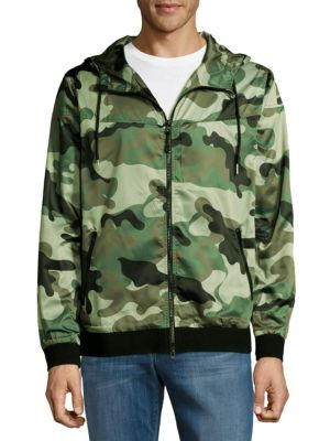 Camouflage Drawstring Windbreaker Standard Issue NYC