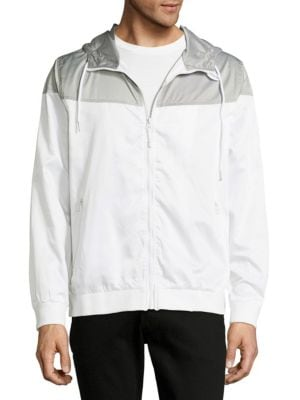 Colorblock Drawstring Windbreaker Standard Issue NYC