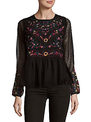 Click here for Embroidered Peplum Blouse prices