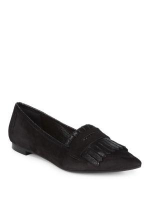 Kiltie Fringed Flat Loafers