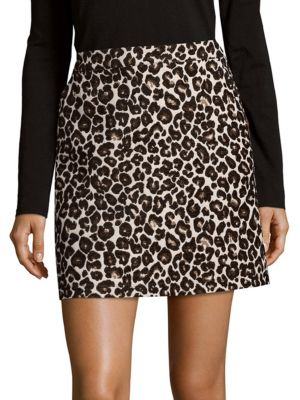Leopard Print Mini Skirt Sanctuary