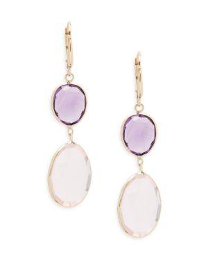 Rose Quartz Dangle  Drop Earrings Saks Fifth Avenue
