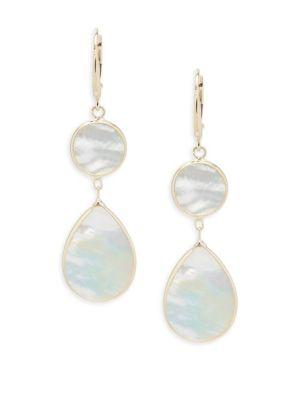 Mother-of-Pearl Dangle  Drop Earrings Saks Fifth Avenue