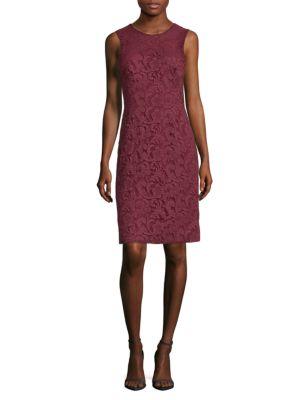 Corded Lace Sheath Dress J. Mendel