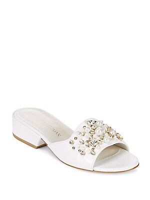 Decor Embellished Slide Sandals