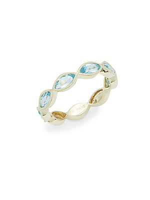 Click here for Blue Topaz & 14K Yellow Gold Eye Ring prices