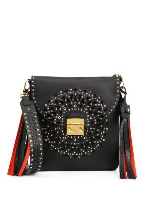 Loop Perforated Leather Shoulder Bag