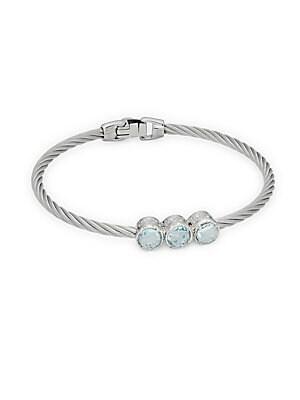 Click here for Blue Topaz & 18K White Gold Bracelet prices