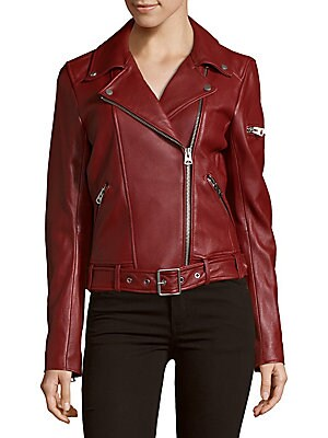 Solid Leather Moto Jacket