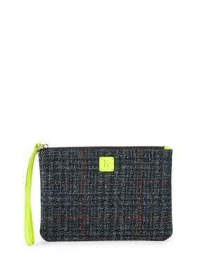 Plaid Wool Wristlet FRANCES VALENTINE