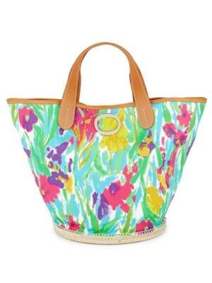 Frida Signature Floral Bucket Bag FRANCES VALENTINE