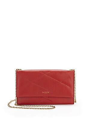 Sugar Topstitched Leather Chain Wallet