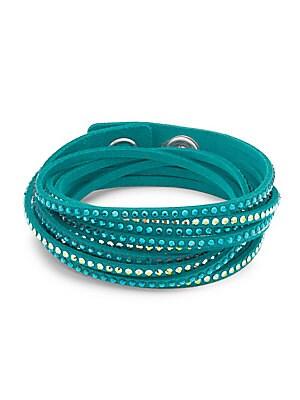 Green & Gold Crystal Wrap Bracelet