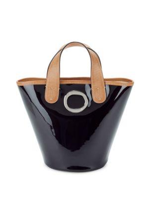 Charlie Patent Leather Bucket Bag FRANCES VALENTINE