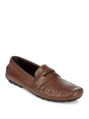 Slip-On Leather Driver Shoes Canali