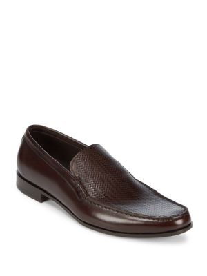Slip-On Leather Loafers Canali