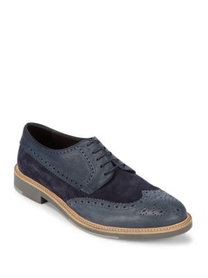 Round Toe Leather Brogues Canali