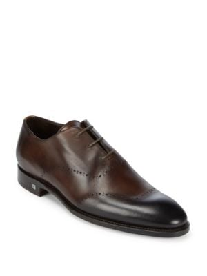 Lace-Up Leather Oxfords Canali