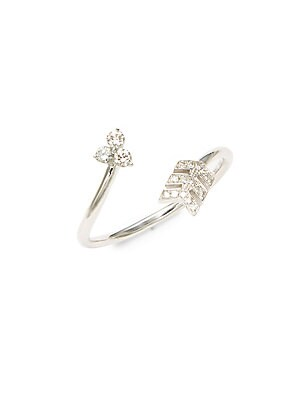 Click here for White Gold Trio Arrow Ring prices