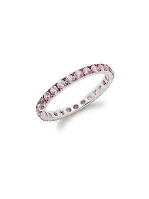 Click here for Pink Sapphire & 18K White Gold Ring prices