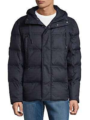 Hilden Plaid Puffer Coat