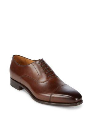 Gaurda Leather Dress Shoes Carlos Santos for Saks Fifth Avenue