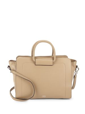 Solid Leather Satchel Vince Camuto