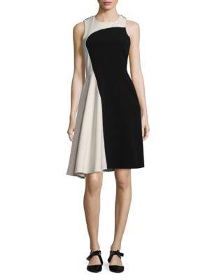 Colorblock Sleeveless Midi Dress