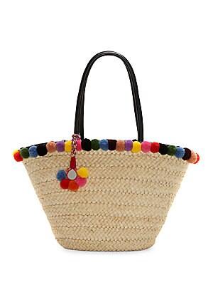 Raene Basket Woven Straw Tote