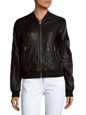 Wynn Leather Baseball Jacket MARC NEW YORK by ANDREW MARC