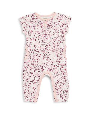 Baby's Crewneck Cotton Coverall Jessica Simpson
