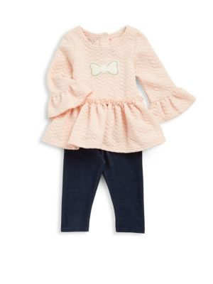 Baby's Two-Piece Ruffled Top  Stretch Pants Set Pippa   Julie
