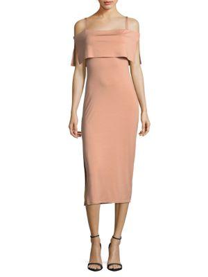 Maternity Pascal Bodycon Cold Shoulder Dress Rachel Pally